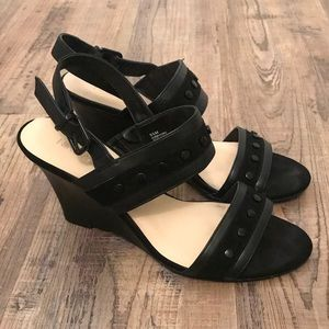 Suede + Leather Nine West wedges